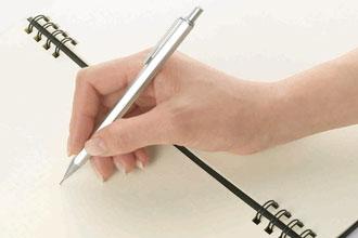ペンを持つ位置