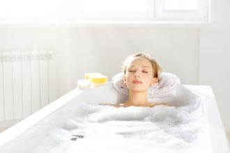 入浴で改善