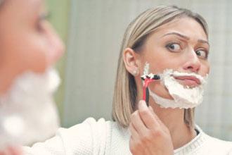 顔の産毛剃り